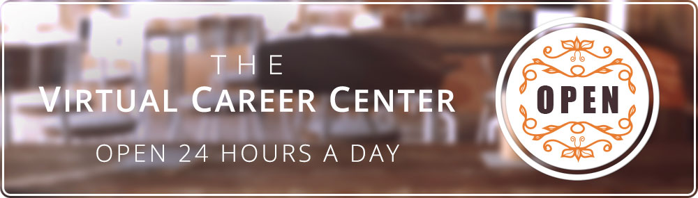 Virtual Career Center header graphic