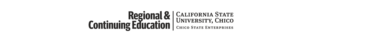 California State University - Chico Research Foundation, Non-Credit