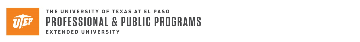 Professional and Public Programs at The University of Texas at El Paso