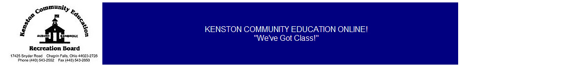 Kenston Community Education