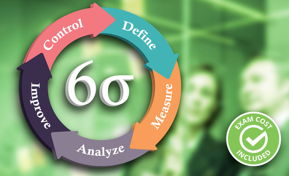 Lean Six Sigma Green Belt with Black Belt with 1-on-1 Project Coaching (Exam Cost Included)